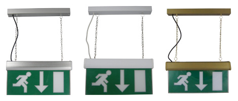 Brass emergency exit lights