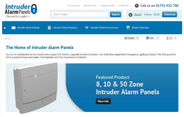 Intruder Alarm Panels home page
