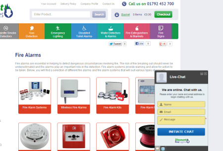 Discount Fire Supplies Live Chat