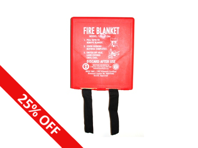 25% Off Fire Blankets