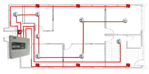 diagram 1 conventional or addressable fire alarm systems? discount fire fire alarm addressable system wiring diagram pdf at nearapp.co