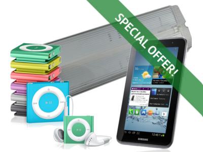 Free iPod or Samsung Galaxy Tab 2