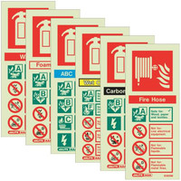 Photoluminescent Extinguisher Signs