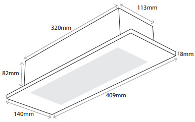 Flushlight LED Emergency Luminaire