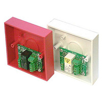 Fire Alarms, Fire Alarm Accessories, Fire Alarm Relays - Easy Relay 12V Security Panel Relay (12V DC Coil) in White or Red Single Gang Box