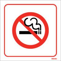 Cigarette Smoke Detectors, No Smoking Signs - White PVC No Smoking Sign