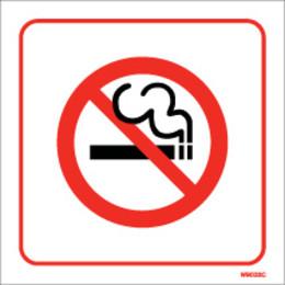 White Self-Adhesive No Smoking Sign