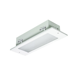 Flushlight LED Emergency Luminaire with Optional Self Test