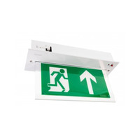 Emergency Lighting, Emergency Exit Signs - Vale Self-Test LED Emergency Exit Sign In White, Brass or Chrome
