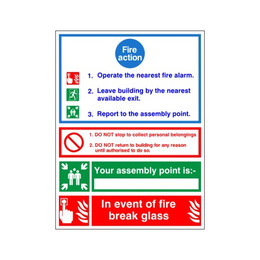 Fire Action Sign B