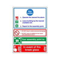 Fire Signs, Fire Action Signs - Fire Action Sign B