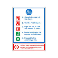 Fire Signs, Fire Action Signs - Fire Action Sign C