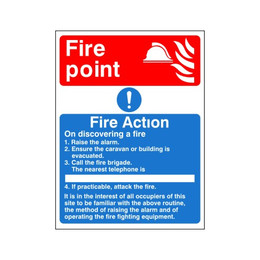 Fire Action Sign F
