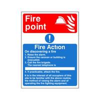 Fire Signs, Fire Action Signs - Fire Action Sign F