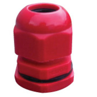 Fire Alarms, Fire Resistant Cable & Clips, Fire Glands - Red Fire Cable Gland For 2 Core x 1.0 or 1.5mm Cable c/w Nut & Washer