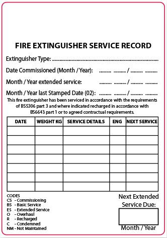 Plain Fire Extinguisher Service Labels Discount Fire