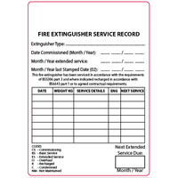 Fire Extinguishers & Blankets, Fire Extinguisher Accessories, Extinguisher Labels - Plain Fire Extinguisher Service Labels