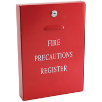 Fire Alarms, Fire Alarm Accessories, Document & Key Storage - Metal Document Storage Case (Red)