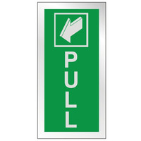 Fire Signs, Prestige Fire Signs, Prestige Fire Exit Signs - Prestige Pull Fire Exit Sign