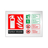 Fire Signs, Prestige Fire Signs, Prestige Fire Extinguisher Signs - Prestige CO2 Spray Extinguisher Sign