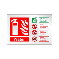 Fire Signs, Prestige Fire Signs, Prestige Fire Extinguisher Signs - Prestige Water Extinguisher Sign