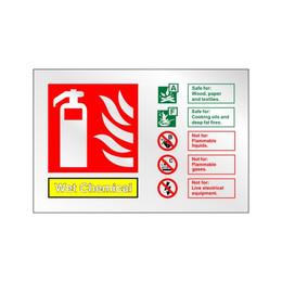 Prestige Wet Chemical Extinguisher Sign