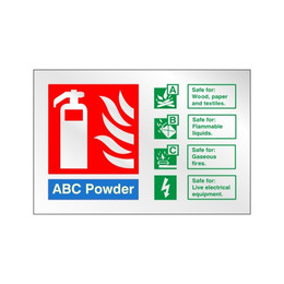 Prestige ABC Powder Extinguisher Sign