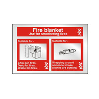 Fire Signs, Prestige Fire Signs, Prestige Fire Blanket Signs - Prestige Fire Blanket Sign
