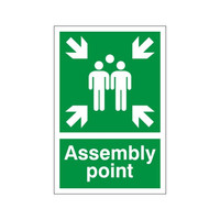Fire Signs, Assembly Point Signs - Assembly Point Sign A