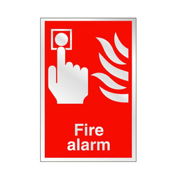 Prestige Fire Alarm Sign