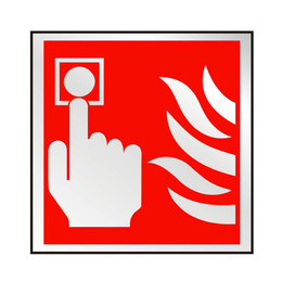 Prestige Fire Alarm 'Push Button' Sign