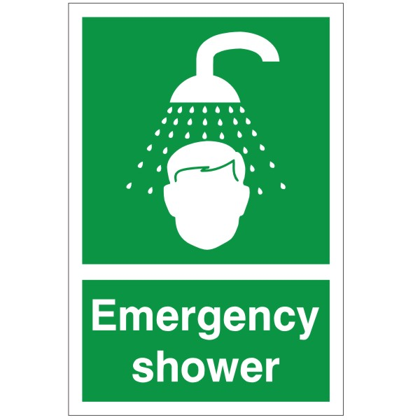 First Aid Emergency Shower Sign Discount Fire Supplies