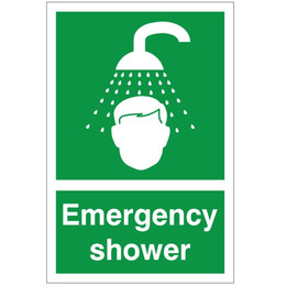 First Aid Emergency Shower Sign