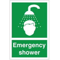 First Aid & Safety Equipment, First Aid Signs - First Aid Emergency Shower Sign