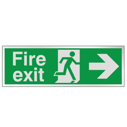 Prestige Fire Exit Sign Arrow Right