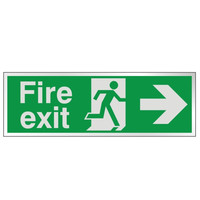 Fire Signs, Prestige Fire Signs, Prestige Fire Exit Signs - Prestige Fire Exit Sign Arrow Right