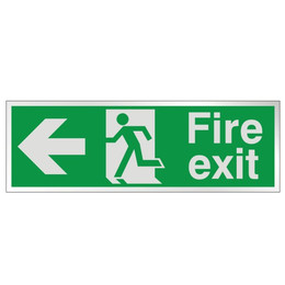Prestige Fire Exit Sign Arrow Left