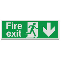 Fire Signs, Prestige Fire Signs, Prestige Fire Exit Signs - Prestige Fire Exit Sign Arrow Down