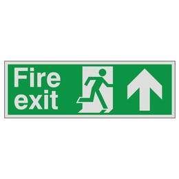 Prestige Fire Exit Sign Arrow Up