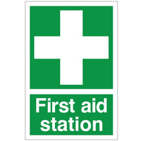 First Aid & Safety Equipment, First Aid Signs - First Aid Station Sign