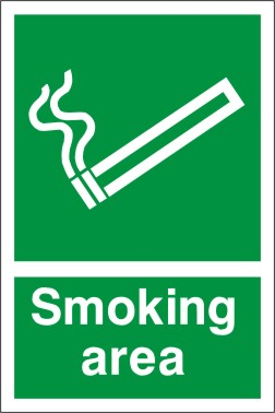 Smoking Area Sign Discount Fire Supplies