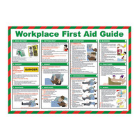 First Aid & Safety Equipment, First Aid Signs - Workplace First Aid Guide Poster