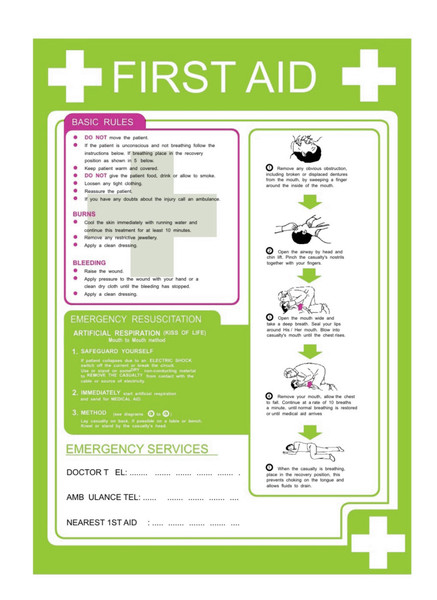 First Aid Poster Discount Fire Supplies
