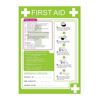 First Aid & Safety Equipment, First Aid Signs - First Aid Poster