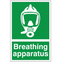 First Aid & Safety Equipment, First Aid Signs - Breating Apparatus Sign