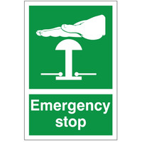 Fire Signs, First Aid Signs - Emergency Stop Sign