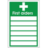 Fire Signs, First Aid Signs - First Aiders Sign