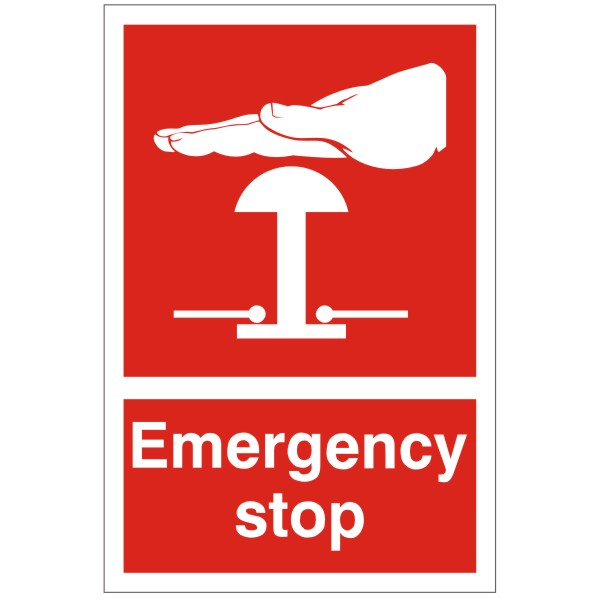 Emergency Stop Sign Red Discount Fire Supplies