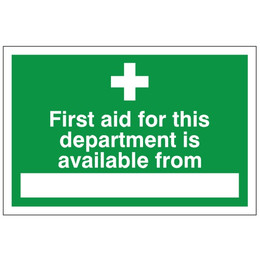 First Aid Available From Sign