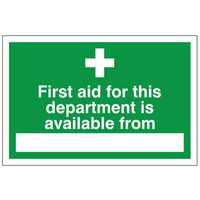Fire Signs, First Aid Signs - First Aid Available From Sign